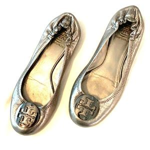 Tory Burch Metallic Flats